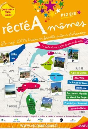 Supplément été 2016 : 7 destinations 100% loisirs en famille à découvrir en Haute-Savoie et dans l'Ain